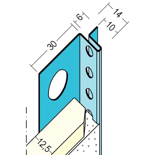 Anschlussprofil mit Schattenfuge für den Trockenbau 1373