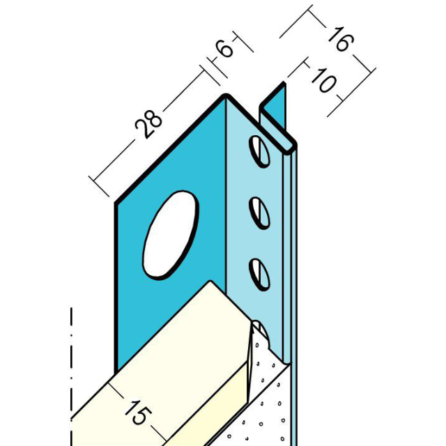 Anschlussprofil mit Schattenfuge für den Trockenbau 1374