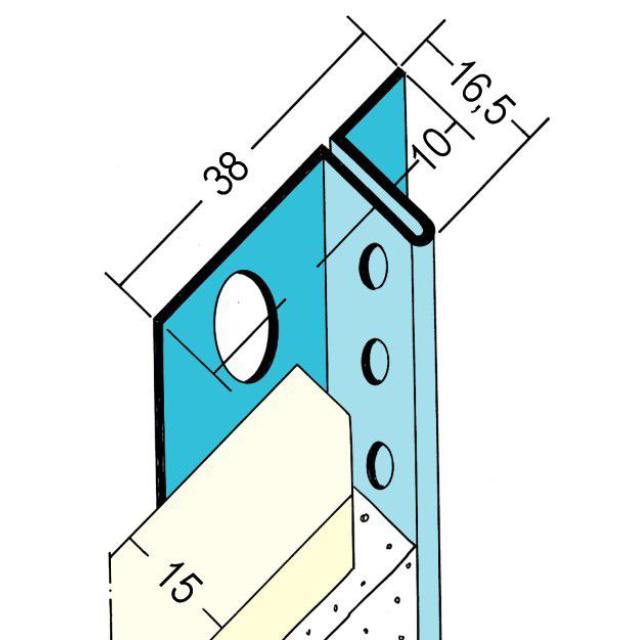 Anschlussprofil mit Schattenfuge für den Trockenbau 1304