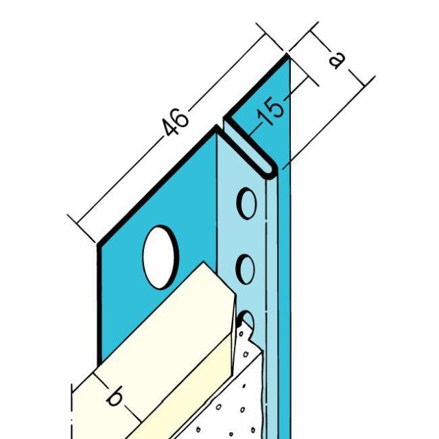Anschlussprofil mit Schattenfuge für den Trockenbau 1319/13191