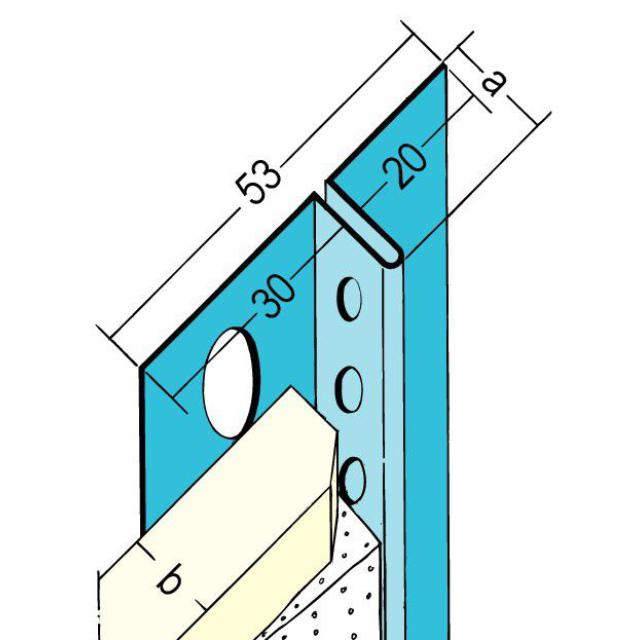 Anschlussprofil mit Schattenfuge für den Trockenbau 1313/13131