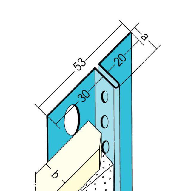Anschlussprofil mit Schattenfuge für den Trockenbau 1315