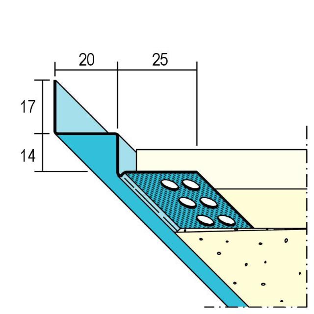 Anschlussprofil mit Schattenfuge für den Trockenbau 1750