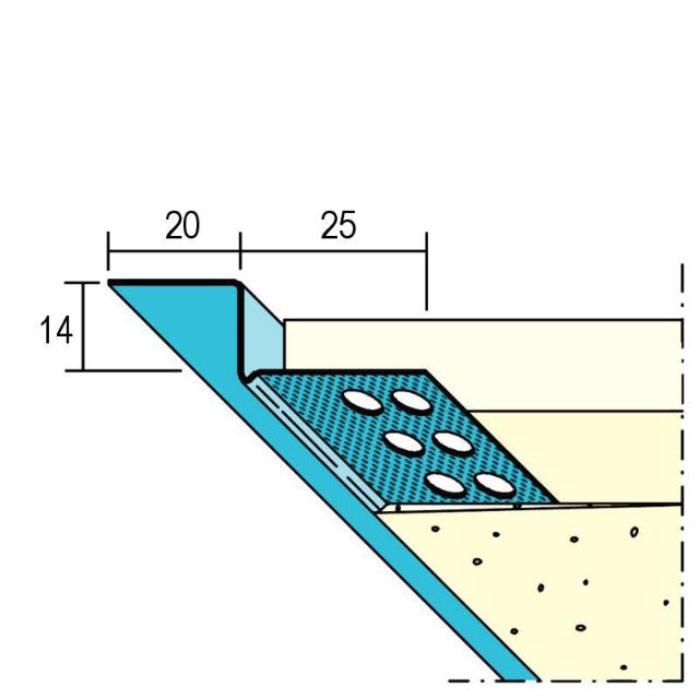 Anschlussprofil mit Schattenfuge für den Trockenbau 1751