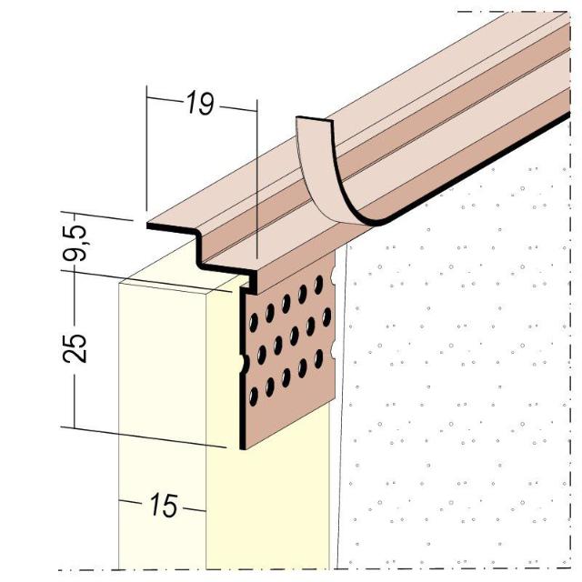 Anschlussprofil mit Schattenfuge für den Trockenbau 3788