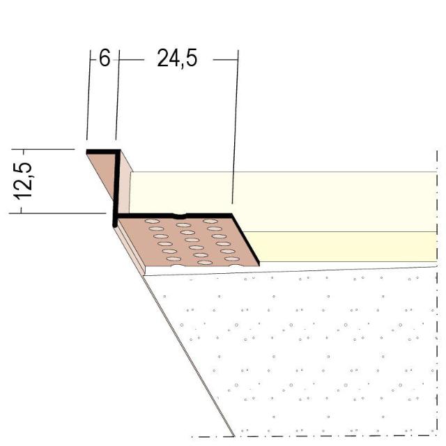Anschlussprofil mit Schattenfuge für den Trockenbau 37814
