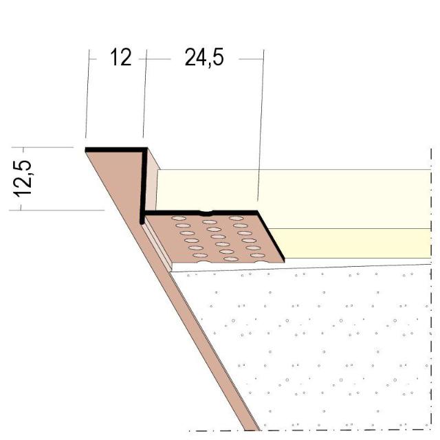 Anschlussprofil mit Schattenfuge für den Trockenbau 37824