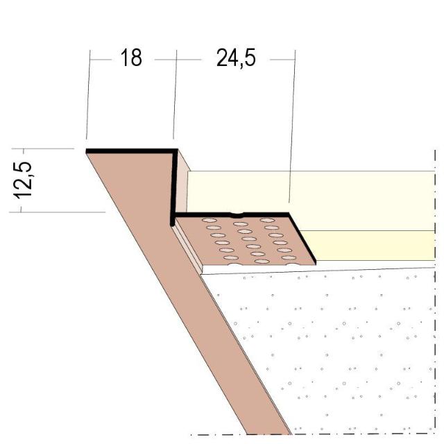 Anschlussprofil mit Schattenfuge für den Trockenbau 37834