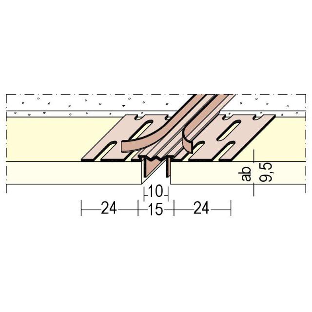 Bewegungsfugenprofil für den Trockenbau 3755