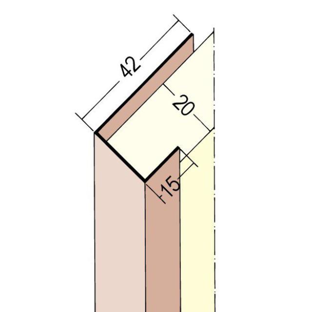 Anschluss- und Einfassprofil U-Profil PVC 3502