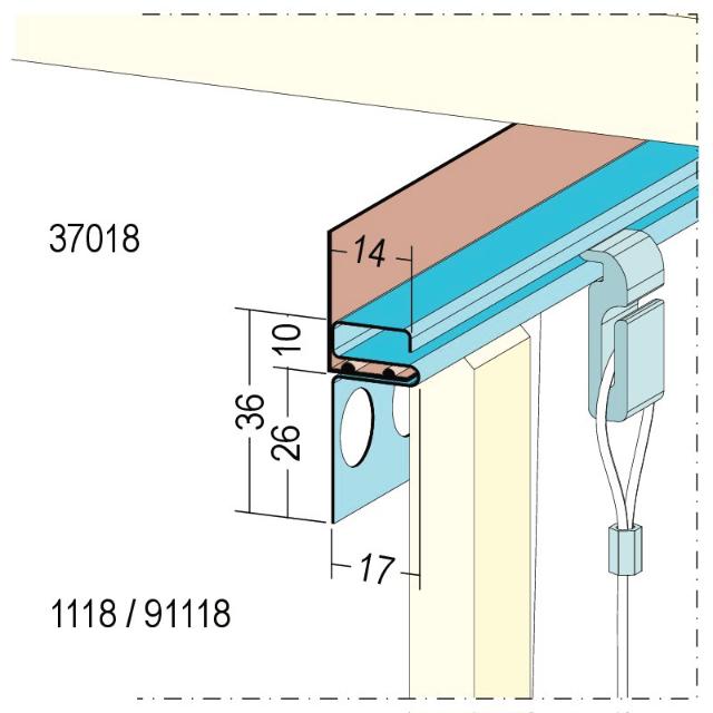Bilderleiste für den Trockenbau 1118/91118