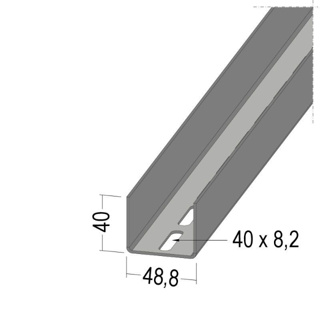 U-Aussteifungsprofil C3-C5 universal