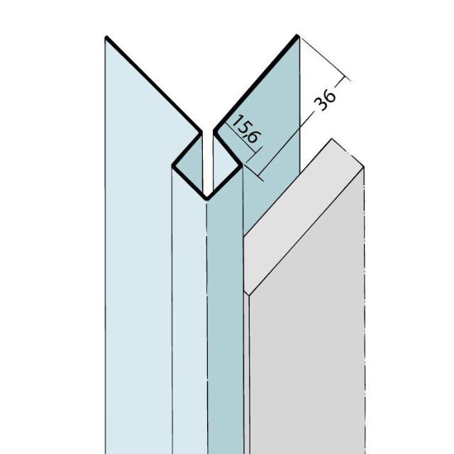 Kantenprofil ohne Schnittkantenüberdeckung Alu 9400