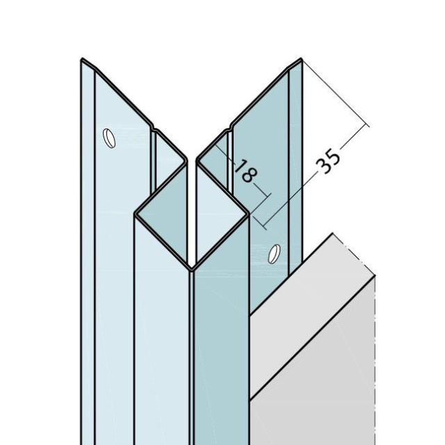 Kantenprofil ohne Schnittkantenüberdeckung Alu 9402