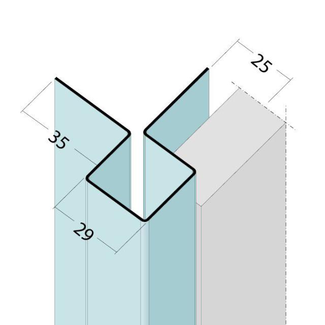 Kantenprofil ohne Schnittkantenüberdeckung Alu 9484