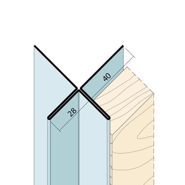 Kantenprofil ohne Schnittkantenüberdeckung Alu 9428