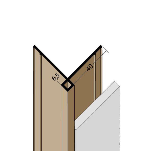 Kantenprofil ohne Schnittkantenüberdeckung PVC 3569