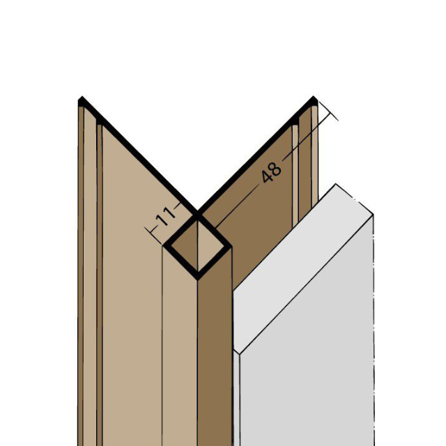 Kantenprofil ohne Schnittkantenüberdeckung PVC 3623