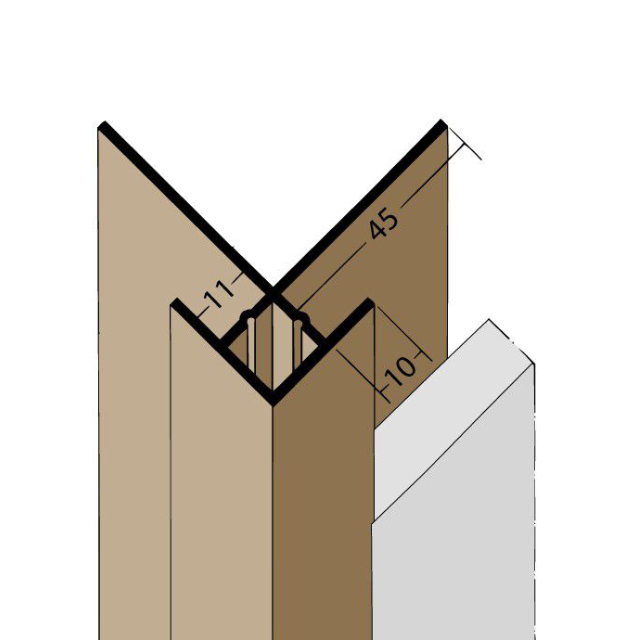 Kantenprofil mit Schnittkantenüberdeckung PVC 3624