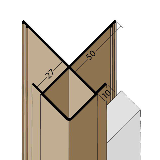 Kantenprofil mit Schnittkantenüberdeckung PVC 3590