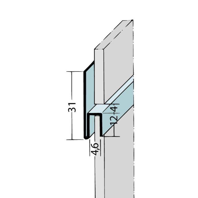 Fugen-h-Profil horizontal Alu schwarz 9047