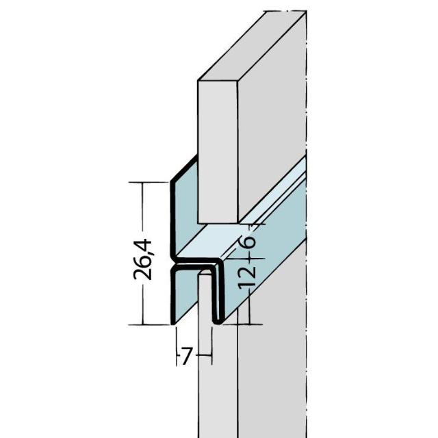 Fugen-h-Profil horizontal Alu 9061/9048