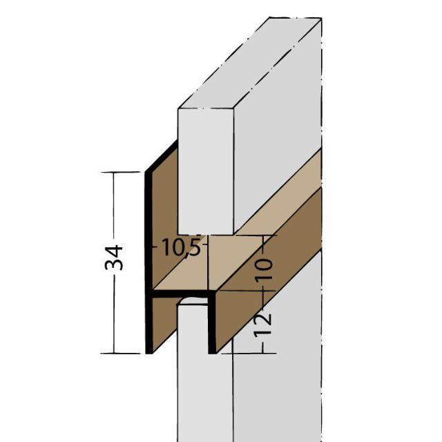 Fugen-h-Profil horizontal PVC 3536