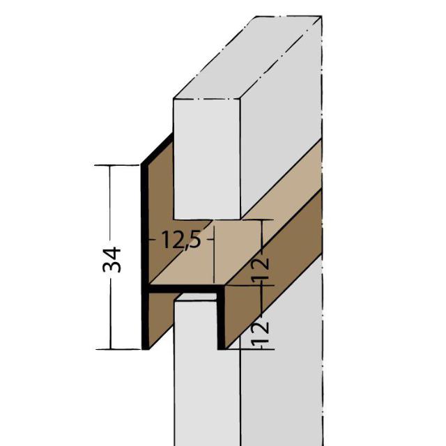 Fugen-h-Profil horizontal PVC 3537
