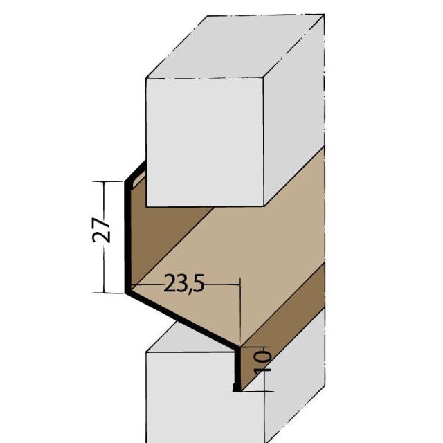 Fugen-Z-Profil horizontal PVC 3554