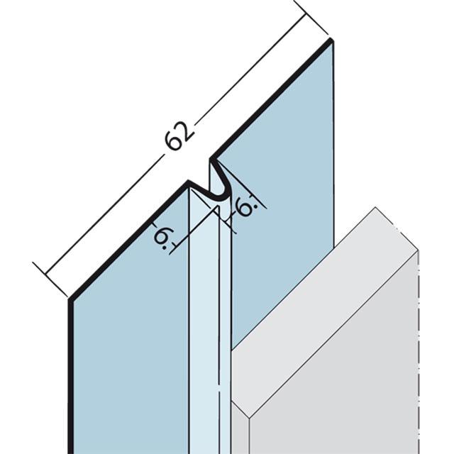 Fugenprofil vertikal und horizontal Alu