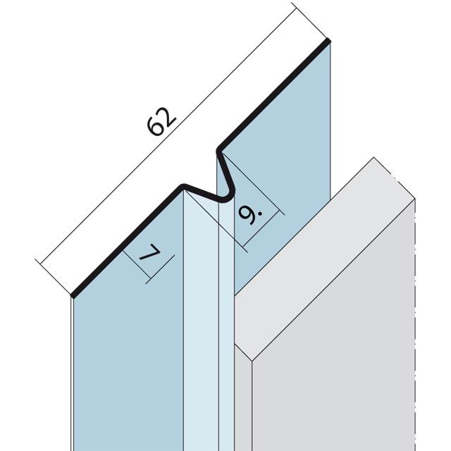 Fugenprofil vertikal und horizontal Alu schwarz 9054