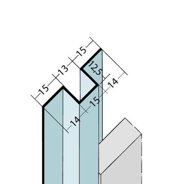 Fugenprofil vertikal Hutprofil Alu 9311