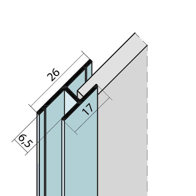 Fugenprofil vertikal Doppel-T-Profil Alu EV1 9736