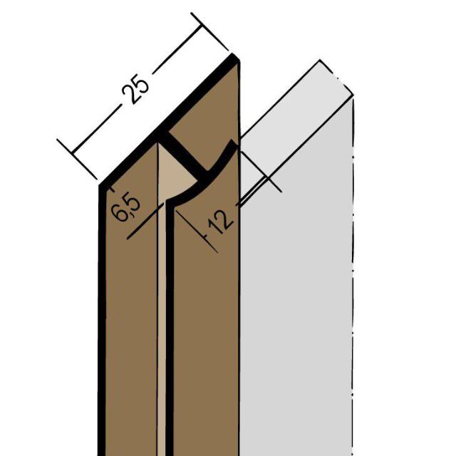 Fugenprofil vertikal Doppel-T-Profil PVC 3557
