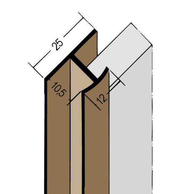 Fugenprofil vertikal Doppel-T-Profil PVC 3547