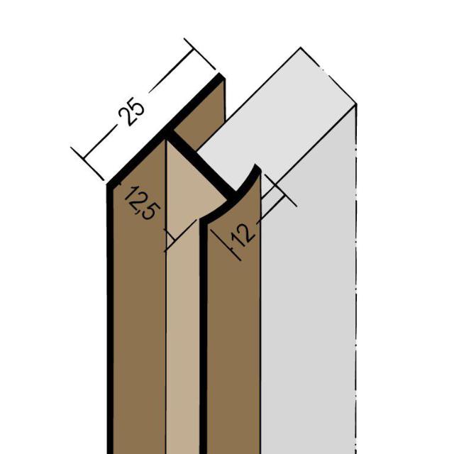 Fugenprofil vertikal Doppel-T-Profil PVC 3548