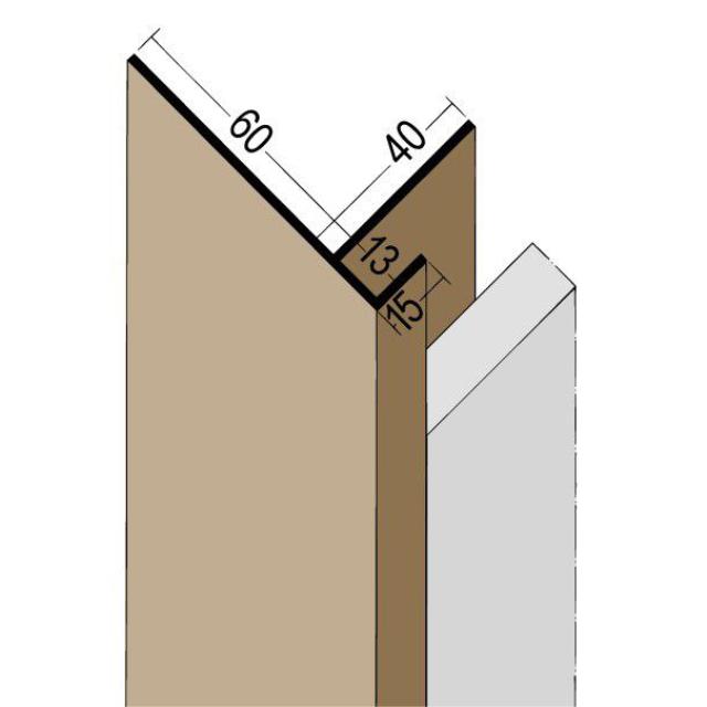 Anschlussprofil mit Schnittkantenüberdeckung PVC 3561