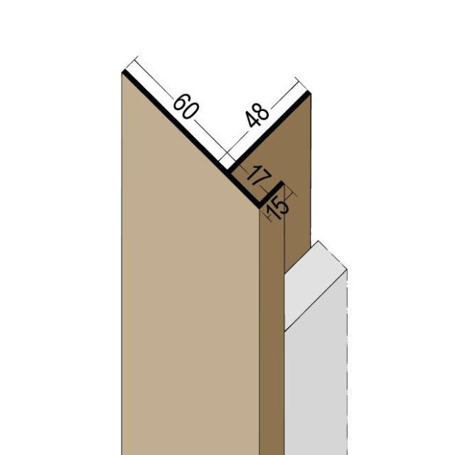 Anschlussprofil mit Schnittkantenüberdeckung PVC 3562