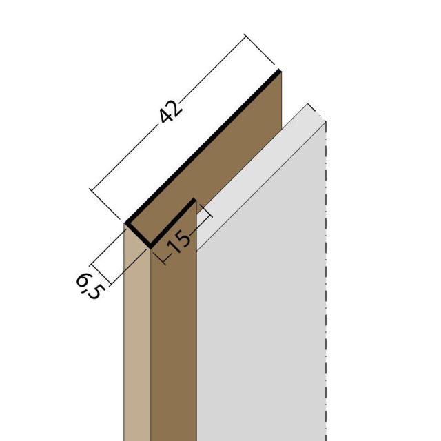 Anschluss- und Einfassprofil U-Profil PVC 3691