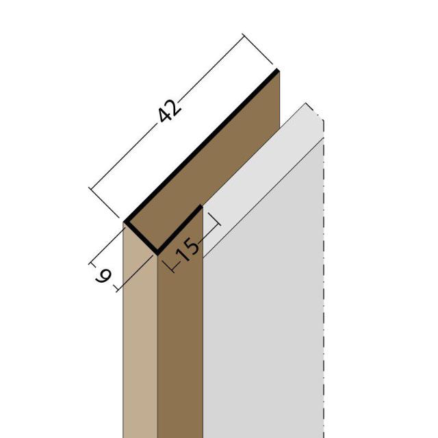 Anschluss- und Einfassprofil U-Profil PVC 3658