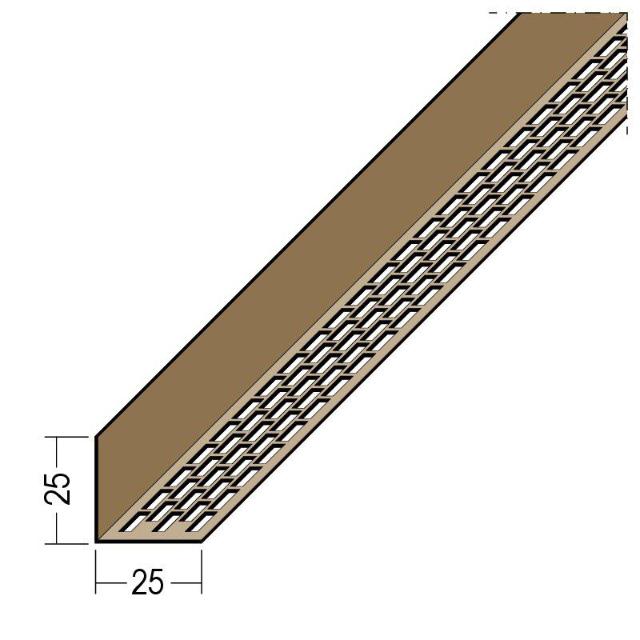 Lüftungswinkel einseitige Rechtecklochung PVC 3614
