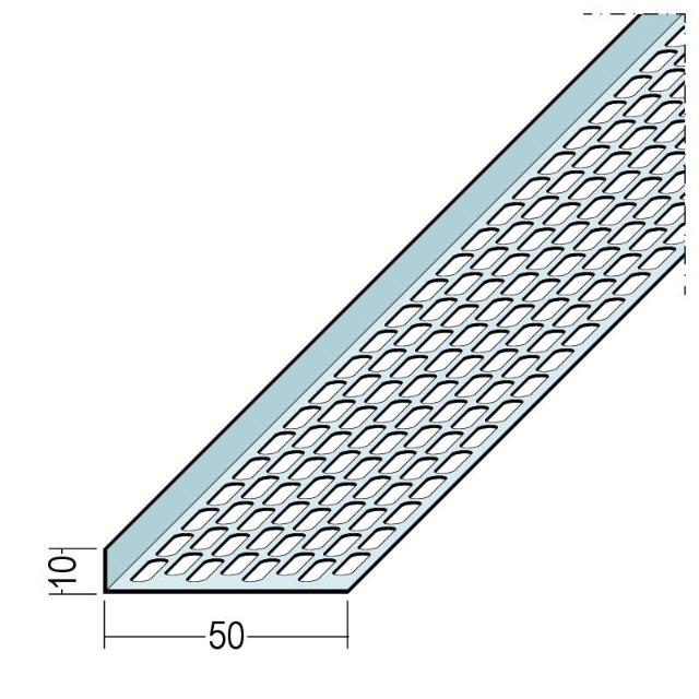 Lüftungswinkel einseitige Ovallochung Alu 9695