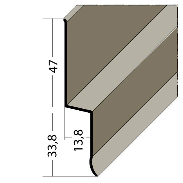 Sockelprofil-Z PVC 3820