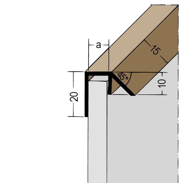 Regenabweisprofil PVC 3588/3589