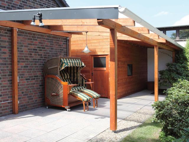 Dachrinnen-Set für Terrassenüberdachung bis 4 m