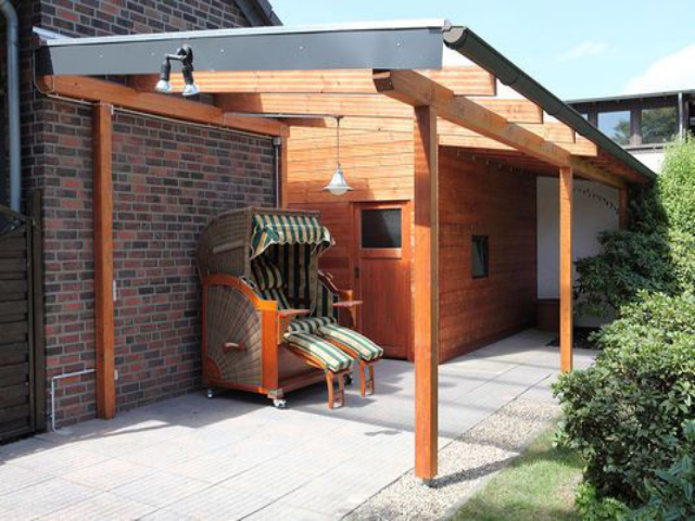Dachrinnen-Set für Terrassenüberdachung bis 6 m