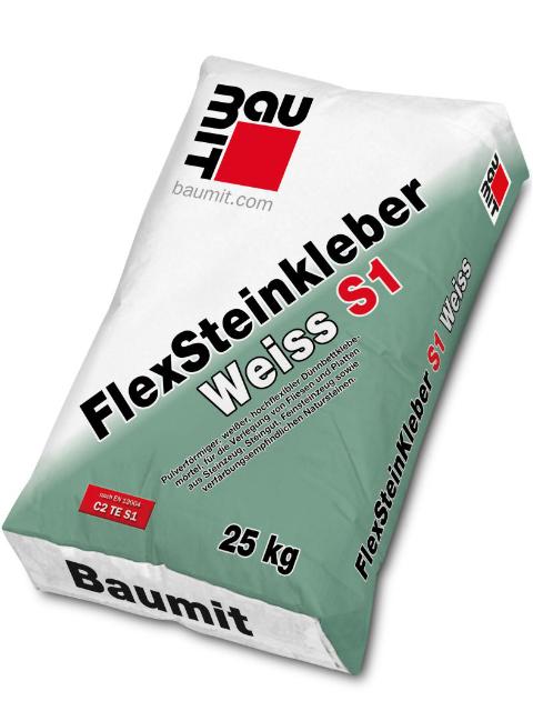 Baumit FlexSteinkleber Weiß S1