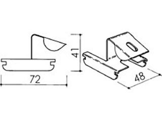 Stützenklipp für CD-Profil 60/27