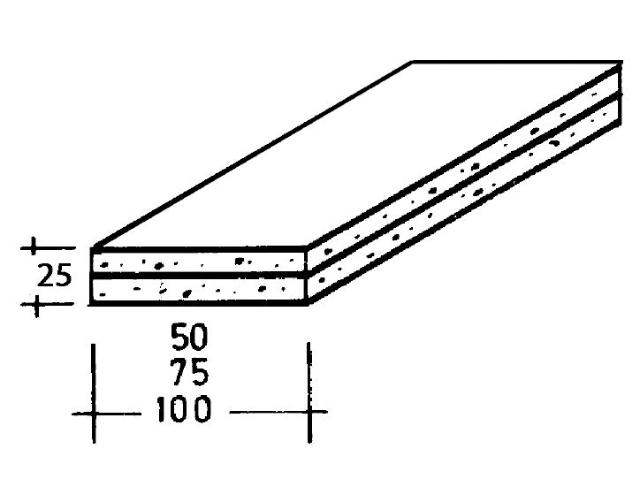 GKB-Riegel 2 x 12,5 mm Platten verklebt