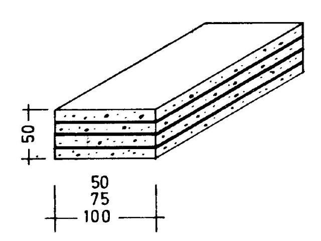 GKB-Riegel 4 x 12,5 mm Platten verklebt